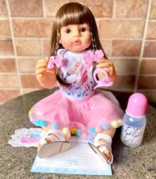 Título do anúncio: Linda Boneca bebê Reborn toda em Silicone realista 55cm nova (aceito cartão)
