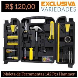 Kit de Ferramentas C/ Maleta 142 Pçs Hammer