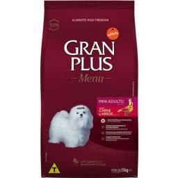 Ração GranPlus Menu Carne e Arroz para Cães Adultos Mini 15Kg