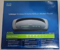 Roteador Linksys Wag120n-br Wireless 802.11n Modem Adsl2/2+