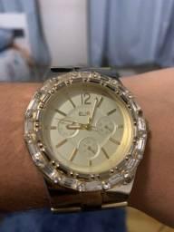 Relógio folhado a ouro