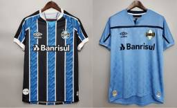 Kit Camisa De Futebol Gremio I + Camisa De Futebol Gremio III - Pronta Entrega
