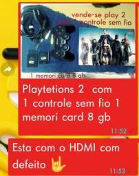 Playstation 2 usado com defeito no HDMI