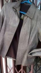 Casaco de couro tam P