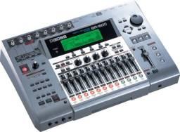 Mesa Boss BR1600 gravação, pedaleira, finaliza musicas em cd, efeitos, bateria interna