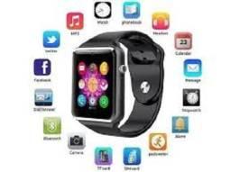 Relogio Smartwatch Preto com camera, chip e etc