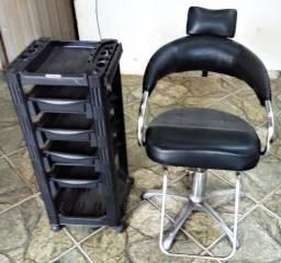Carrinho e cadeira para Salão