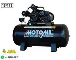 Compressor de Ar Profissional 15 Pés 3,0hp 175 Litros MotoMil