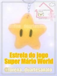 Chaveiro estrela do jogo Super Mário World