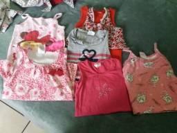 Lote roupas meninas 1 a 2 anos verão