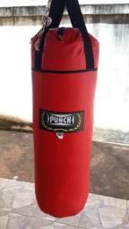 Saco de Pancada Punch Altura - 90 cm e circunferência 100 cm