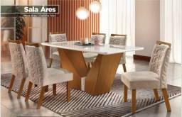 Mesa de Jantar Ares 6 cadeiras LJ Móveis - Envie Seu pedido pague na entrega *