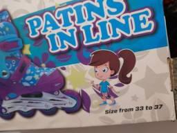 PATINS IN-LINE UNITOYS PERFEITO EXCELENTE <br>Tam. 33 AO 37, ÓTIMO