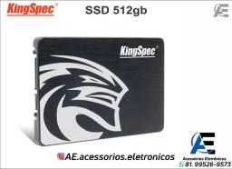 Título do anúncio: SSD 512gb kingspec - Entregamos e Aceitamos Cartões
