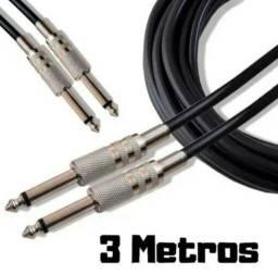 Título do anúncio: Cabo P10 x P10 3 Metros Guitarra Violão Baixo Teclado