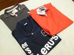 Três Camisetas Polo M