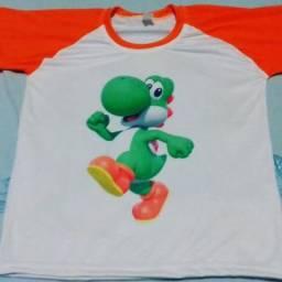 Vendo camisas personalizadas de todos os tamanhos de qualquer tema em poliéster!