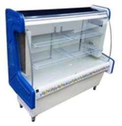 Balcão vitrine refrigerada confeitaria 1000 cabeceira termoformada