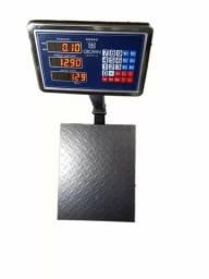 Balança Digital 300kg Com Plataforma 40x50 BiVolt com bateria