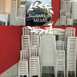 Aluguel de mesas e cadeiras 6 reais o jogo de 1 meda e 4 cadeiras