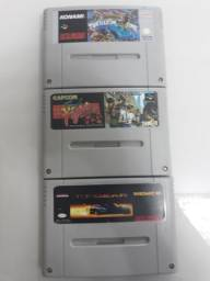 3 fitas Snes, top gear, tartaruga ninja e final faght