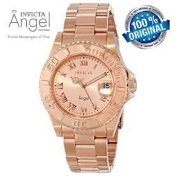 aba5470294c Relógio Invicta Feminino 14322 Ouro Rose 100% Original em 12X 01 Ano  Garantia - Bijouterias