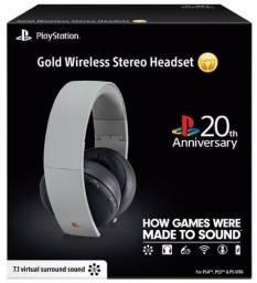 Headset Gold 20th Anniversary para Ps4 e Ps3