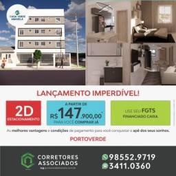 LANÇAMENTO CASA VERDE AMARELO - 02 DORMITÓRIOS - PORTOVERDE - A MELHOR LOCALIZAÇÃO - ACABA