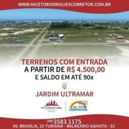 Terreno/Lote 300m² - Entrada de 4.500 - Balneário Gaivota/SC