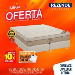 ::: Cama Box Colchao Ortobom Elegante Queen Size 158x198 + 02 Travesseiros de Brinde