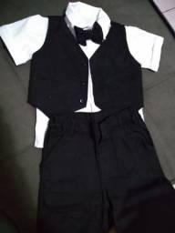 Terninho infantil com colete e gravata borboleta