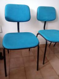 Cadeiras de escritório estofadas