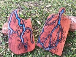 Tábuas de corte e frios com resina epóxi