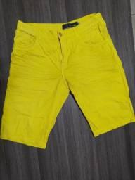 Short Jeans Masculina Amarelo