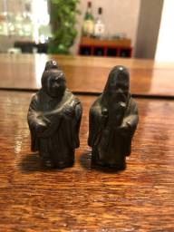 Deuses Japoneses da Fortuna Estatueta Miniatura Metal