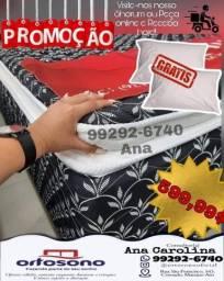 Cama box fofinha c/ pillow top + 2 travsseiros gratis *