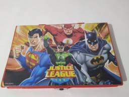 Estojo Infantil Maleta Escolar homem aranha batman herois toys tory Pintura 86Pça Completa