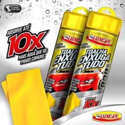 Toalha PVA enxuga tudo luxcar amarela 64x43cm