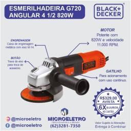 Título do anúncio: Esmerilhadeira G720  Angular 4 1/2 820w  Black & Decker