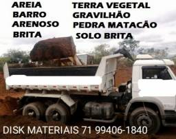 Título do anúncio: Areia, Gravilhão, Arenoso, Brita, Terra Vegetal, Barro para Aterro