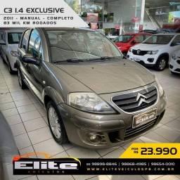C3 2010/2011 1.4 I EXCLUSIVE 8V FLEX 4P MANUAL