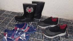 Sapatos infantis tamanho 31 e 32