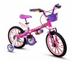 Bicicleta Infantil Nathor Aro16 Menina Top Girls 5 A 8 Anos