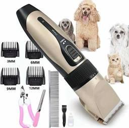 Título do anúncio: Kit Máquina de Tosa Cães e Gatos Recarregável