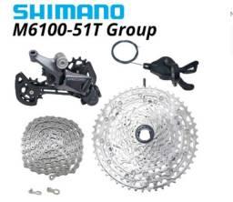 Grupo Shimano Deore M6100 12v Cassete 10-51t