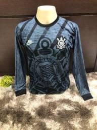 Camisa Corinthians - Manga Longa