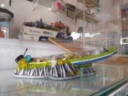 Título do anúncio: Barco pantaneiro enfeite para aquario
