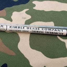 Antigo termômetro com mercúrio da empresa kimble glass company década de 30
