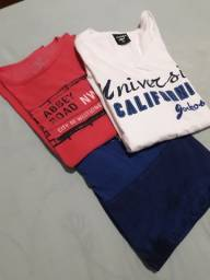 Três Camisetas Diversas M