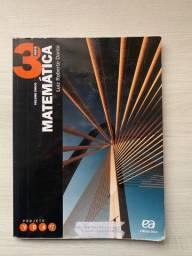 Livro Matemática parte 3 ensino médio. Projeto Voaz editora ática